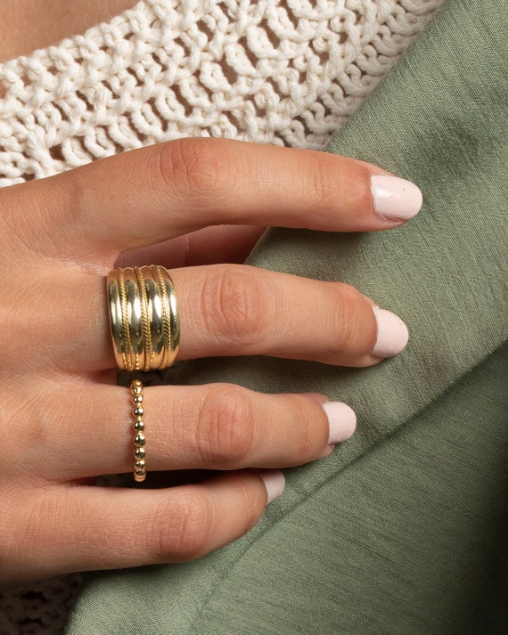 statement-ring,-chunky-ring,-dainty-ring,-cuff-ring-gold,-cuff-ring-silver,-minimalist-ring,-gold-ring,-chunky-ring-silver,-big-ring-silver by etsy