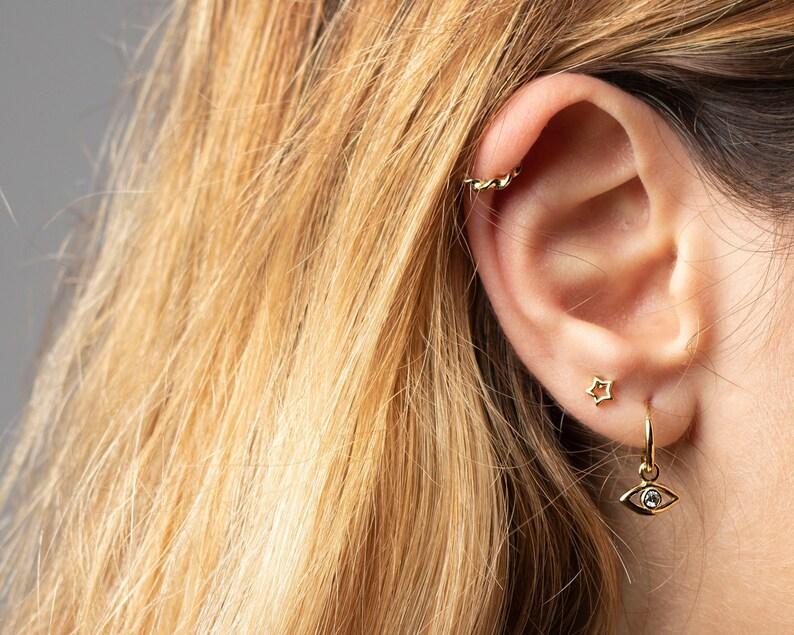 1fb890e41 Star earrings Star stud earrings Tiny star earring | Etsy