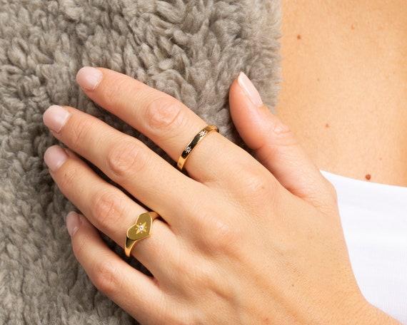 heart-signet,-signet-ring-for-women,-cz-signet-ring,-gold-signet-ring,-heart-ring,-dainty-ring,-delicate-ring,-heart-signet-gold,-cz-ring by etsy