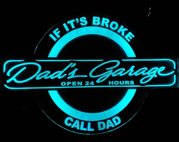 Dad's Garage LED Wall Light Neon-Like  - Color Changing - Free Shipping