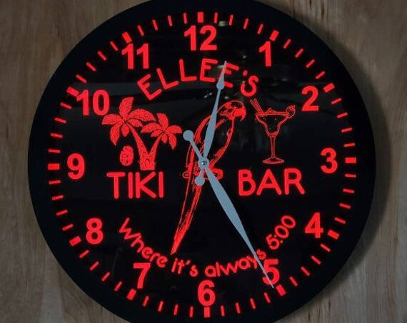 Custom Clock LED Light - Neon Like - Color Changing Remote Control - 2 Sizes - Made in USA - Free Shipping