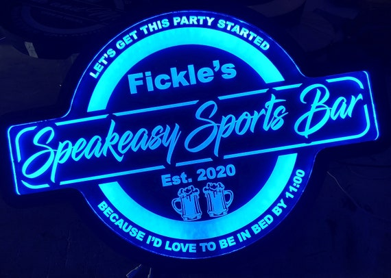Custom Sports Bar Led Wall Sign Neon Like - Color Changing Remote Control - 4 Sizes Free Shipping