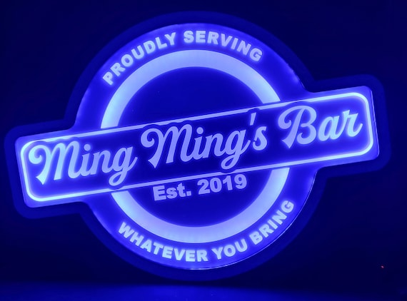 Custom Open Bar Led Wall Sign Neon Like - Color Changing Remote Control - 4 Sizes Free Shipping