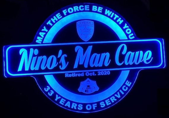 Custom Police Force Led Wall Sign Neon Like - Color Changing Remote Control - 4 Sizes Free Shipping