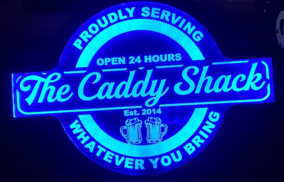 Custom Sign Bar, Pool, Barn, Garden, Shed, Gazebo or Shack Led Wall Sign Neon Like - Color Changing Remote Control - 4 Sizes - Free Shipping