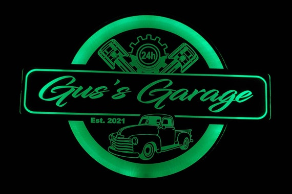 Custom Sign with Cars - Trucks - Tractors - Color Changing Acrylic - Led Night Light - Neon-Like - 4 Sizes - Free Shipping
