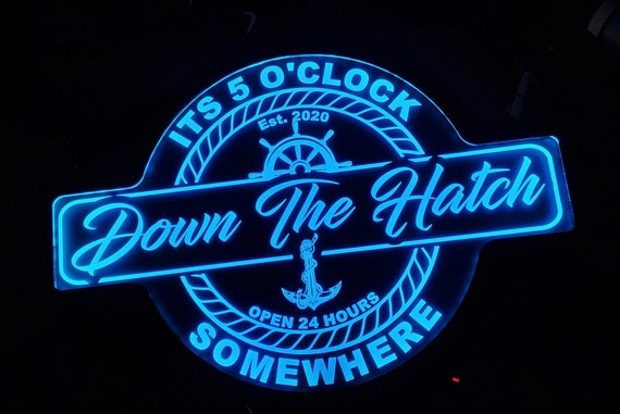 Custom Boater, Boat Name, Marina, Boat Themed Led Wall Sign - Neon - Like - Color Changing - Remote Control - 4 Sizes Free Shipping