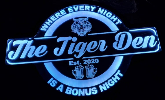 Custom Den Bar Sign Color Changing Acrylic Wall Led Night Light Neon Like Dual Power  4 Sizes Free Shipping
