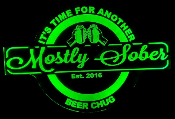 Custom Beer Chug Led Wall Sign Neon Like - Color Changing Remote Control - 4 Sizes Free Shipping