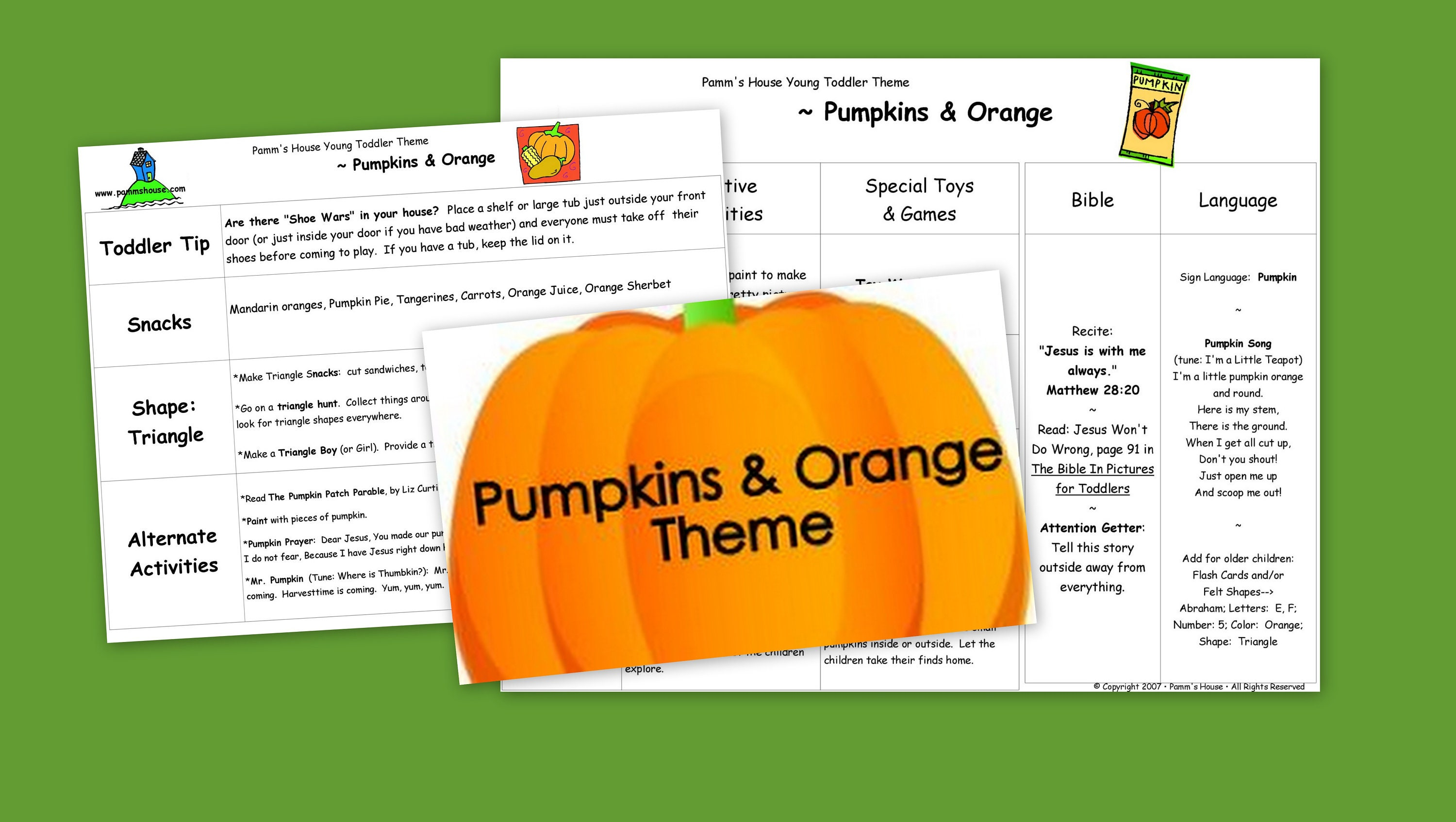 photograph regarding Pumpkin Prayer Printable referred to as Printable Newborn Concept - Pumpkins Orange - Mastering Throughout Engage in