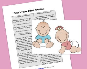 Infant Activities #1 - Printable Plans - Learning Through Play
