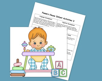 Infant Activities #3 - Printable Plans - Learning Through Play