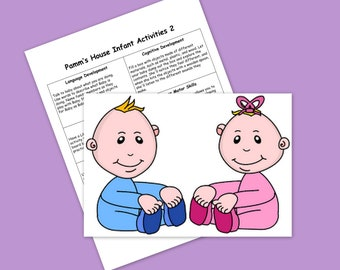 Infant Activities #2 - Printable Plans - Learning Through Play