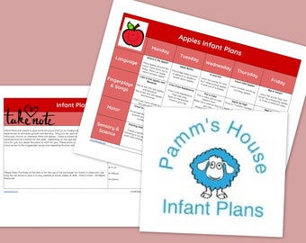 Apple Printable Infant Lesson Plans For Baby - Learning Through Play