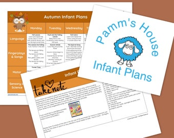 Autumn Printable Infant Lesson Plans For Baby - Learning Through Play
