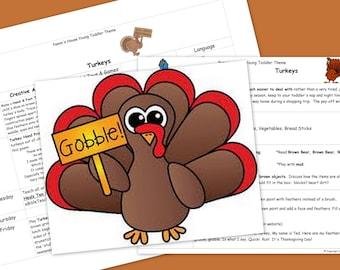 Turkeys Printable Toddler Theme - Learning Through Play