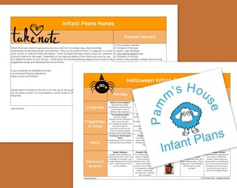 Halloween Printable Infant Lesson Plans For Baby - Learning Through Play
