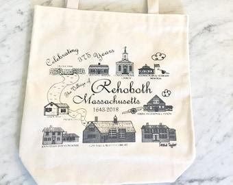 Rehoboth Village - Commemorative Hand-Printed Tote Bag