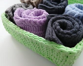 Storage Basket, Crochet Basket, Cotton Basket, Handmade Crochet Basket, Home Decor, Crocheted Basket