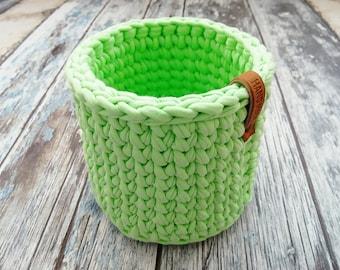 Crochet Basket, Cotton Basket, Handmade Crochet Basket, Home Decor, Storage Basket, Crocheted Basket