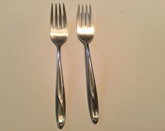VICTORIA-F.W WHITING STERLING SMALL SALAD FORK S