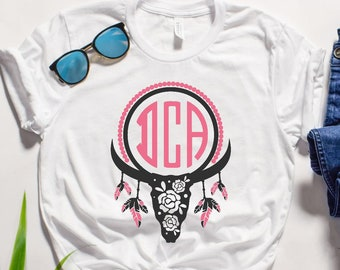 Monogrammed cowgirl shirt