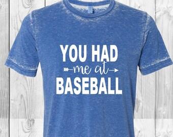 You had me at baseball Acid washed shirt