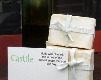 Castile Soap, Cold Process, All Natural, Mild, No Coconut Oil