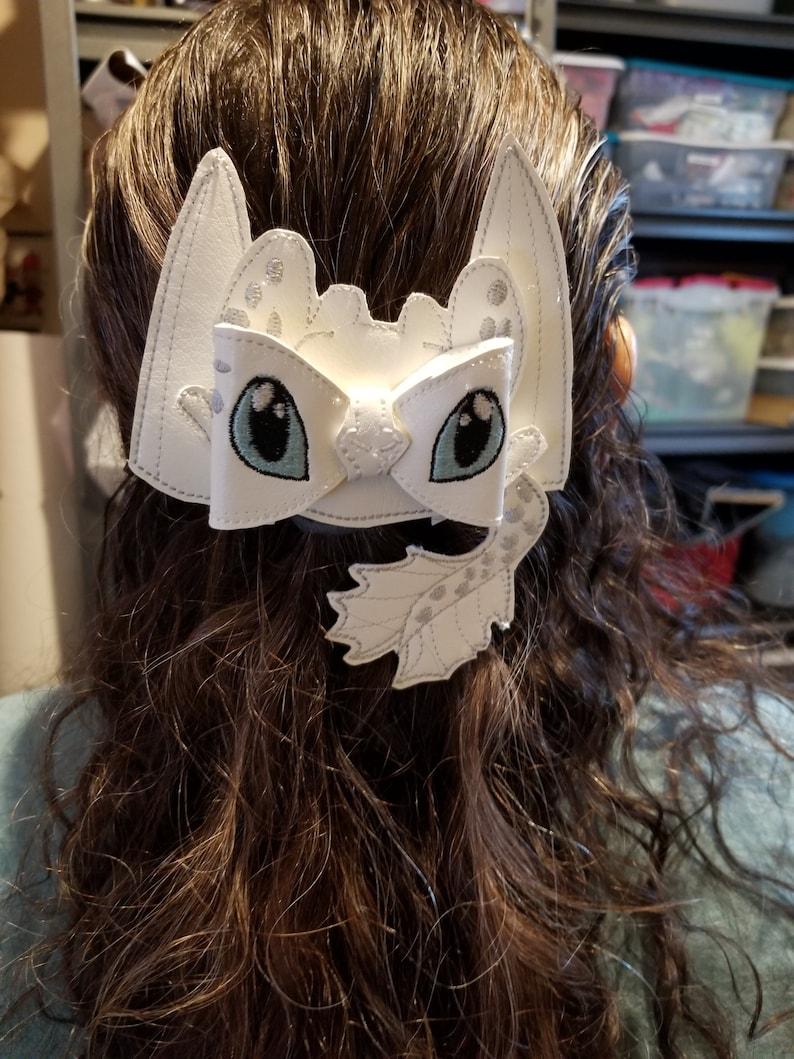Light Fury Inspired HairBow