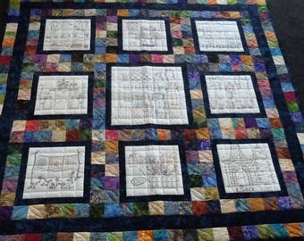 Patchwork Lap Quilt or Wallhanging