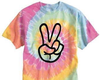 Tye Dye Peace Sign Tee
