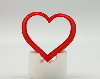 3D Print Love Heart Cookie Cutter, 2″/3″/4″/5″ Size, 1 Deep CC103