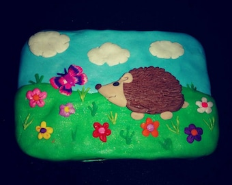 Polymer clay hedgehog box