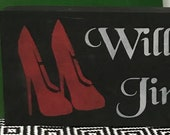 Will Work for Jimmy Choo 39 s Wood Sign Handcrafted Le Block of Words