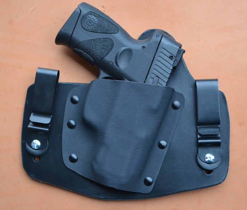 Taurus PT111 G2 PT140 G2Kydex IWB Conceal Carry w// Leather Sweat Guard