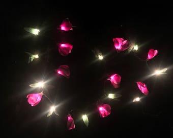 Purple Crocus Flower String Lights