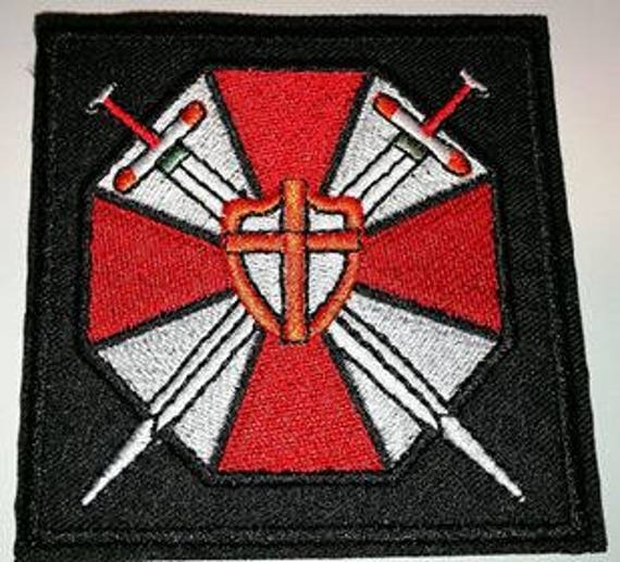 Resident Evil Umbrella Corporation Logo Embroidered Cloth Iron Etsy