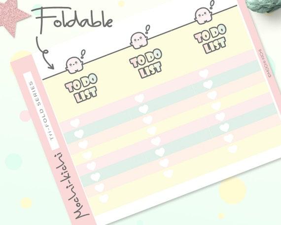 cute to do list planner sticker tri fold planner sticker etsy