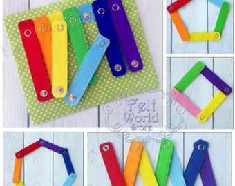 Travel Busy Fidget,Educational Activity Toddlers Toy, Montessori Sensory Boys And Girls Game, Kids Toy from felt, Latches Game, magnetic toy