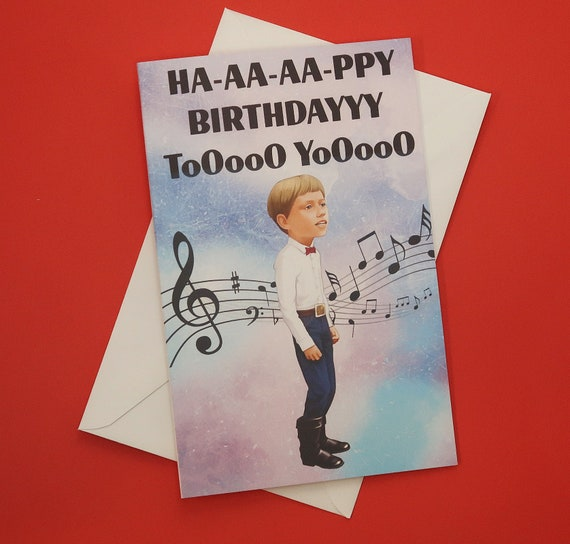 Birthday Card Meme Card Walmart Yodeling Kid Happy Etsy