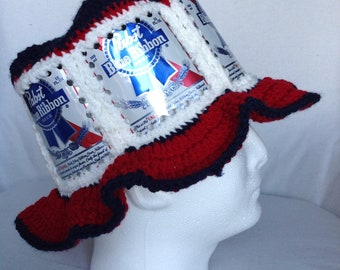 9bb96839ece Pabst Blue Ribbon beer can hat