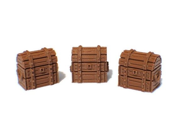 HeroQuest Chests Set x3 Treasure Chest Furniture Replacement Terrain DND D/&D