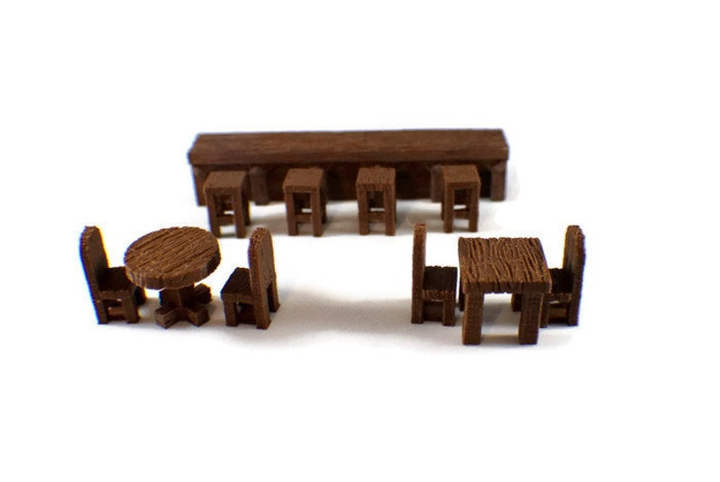 28mm Tables And Chairs For D D Dungeon Furniture Rpg Dungeon Terrain Dungeons And Dragons Terrain