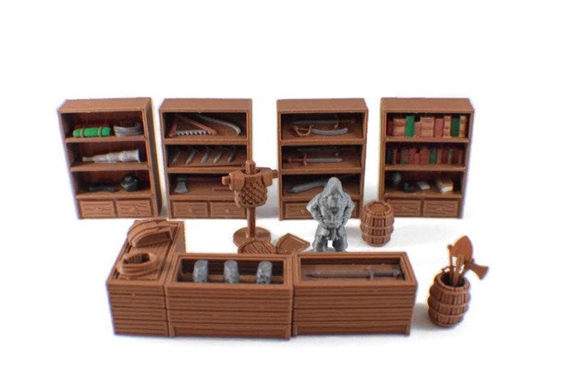 General Store 28mm Miniature Village Möbel D D Terrain Etsy