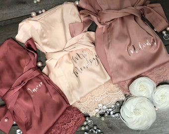 Bridesmaid robes Set of 1 fd2c6da35