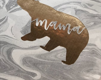Mama Bear * Gray Marble *notebook *journal *lined pages