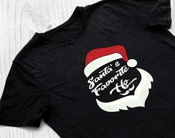 80d2bdc9b7d37c Funny Christmas Shirt, Tank Top or Hoodie | Santa's Favorite Ho | Dirty  Santa Gift