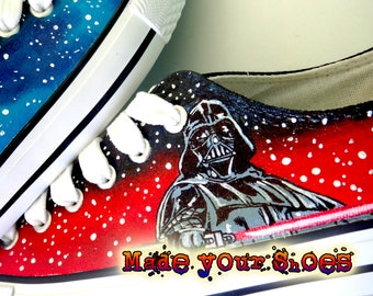 120fd70542c6ac Star wars - jedi warriors - custom canvas shoes handpainted hadmade gifts  Converse Chuck Taylor sneakers