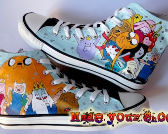 714980f10f1a Adventure Time custom handpainted Converse Chuck Taylor painted shoes low  tops high tops sneakers gift