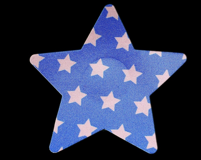 Blue Stars/Wonder Woman Pasties - Nipple Shields - Sun burn protectors - Perfect for going topless in the pool or when boating on the lake